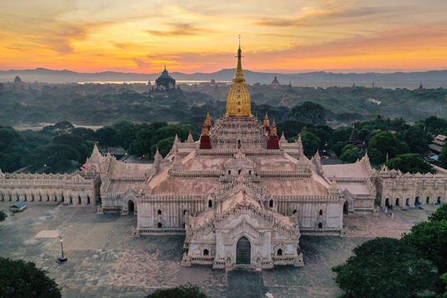 Ananda Temple - great attraction for irrawaddy river cruise