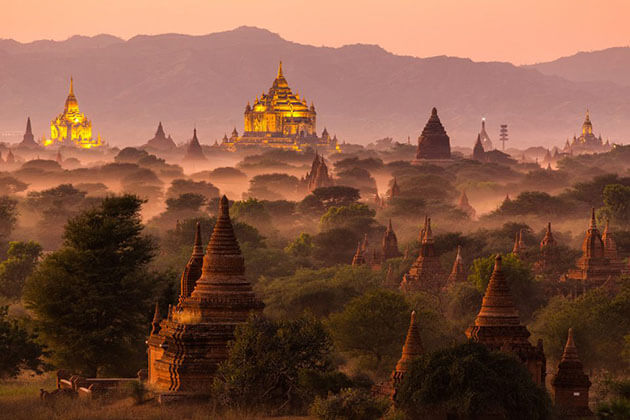 Bagan - best attraction for irrawaddy cruise trips