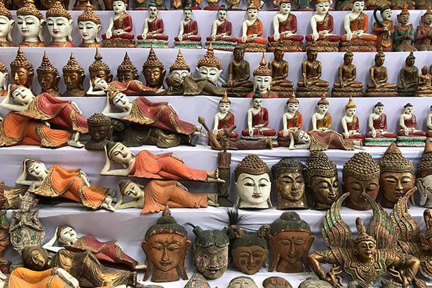 Buddhist statue - good souvenir in Myanmar