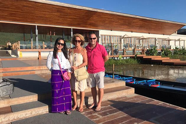 Go Myanmar Tours customers in Inle Lake