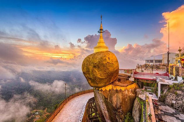 Golden Rock - a popular tourist spots in Myanmar
