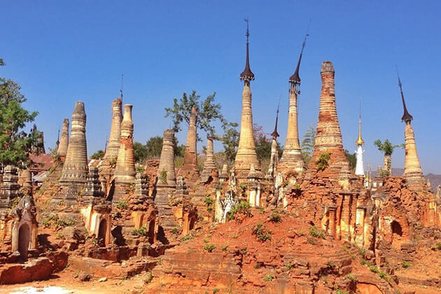 Indein Village - a fascinating attraction for burma cruise