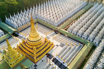 Kuthodaw pagoda - attraction for myanmar river cruise
