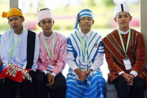 Myanmar traditional dress and national costumes