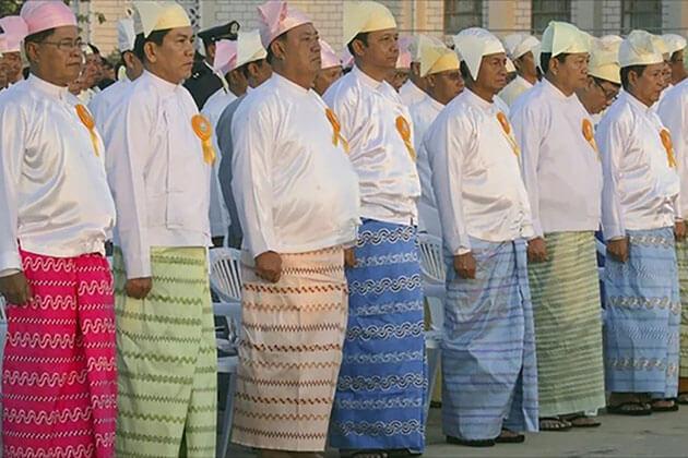 Myanmar traditional dress for burmese men