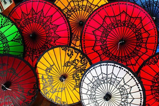 Pathein Umbrella -lovely Myanmar souvenir