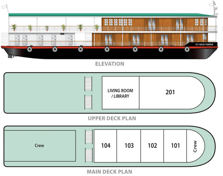 RV Kalay Pandaw deck plan