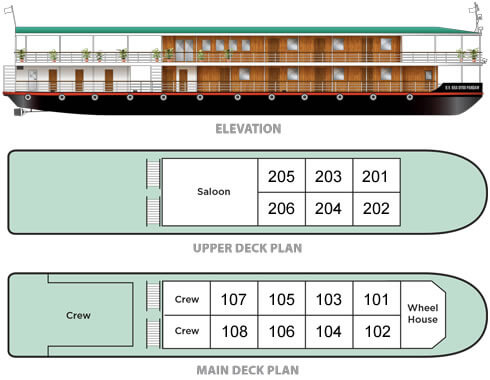 RV Kanee Pandaw deck plan
