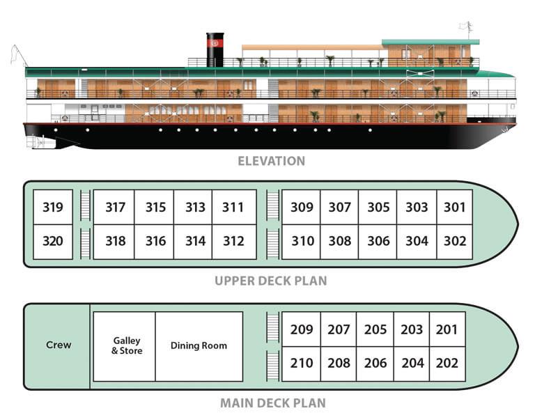 RV Orient Pandaw Deck Plan