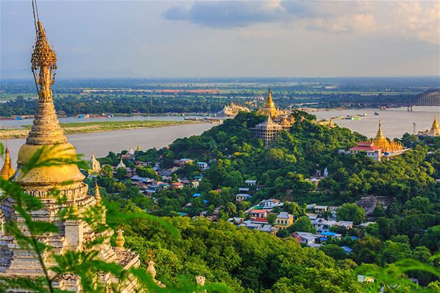 Sagaing Hill - great attraction for irrawaddy river cruise
