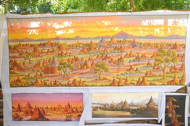 Sand painting - best myanmar souvenirs