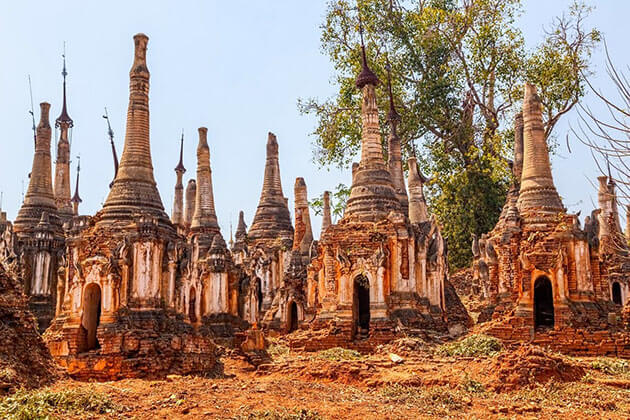 Shwe Indein Temple complex - fantastic spot for myanmar river cruise