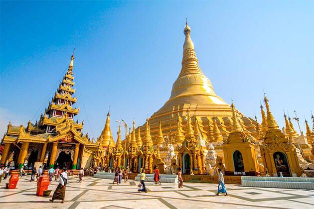 Shwedagon Pagoda - great place to visit in Myanmar river cruise