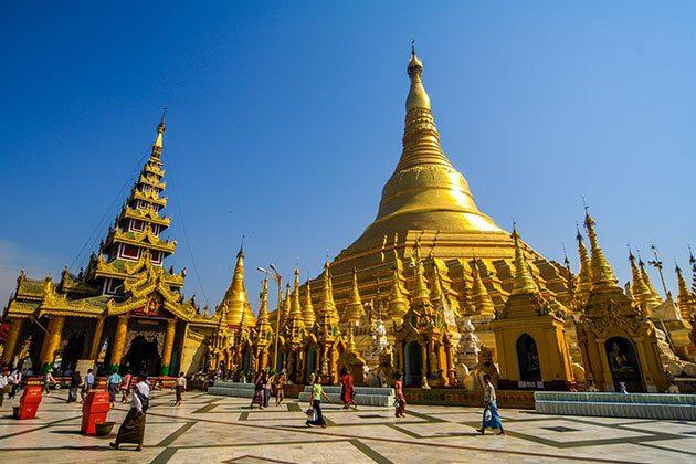Shwedagon Pagoda highlight of myanmar cruise trip