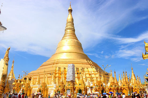 Shwedagon pagoda - must see attraction for myanmar river cruise