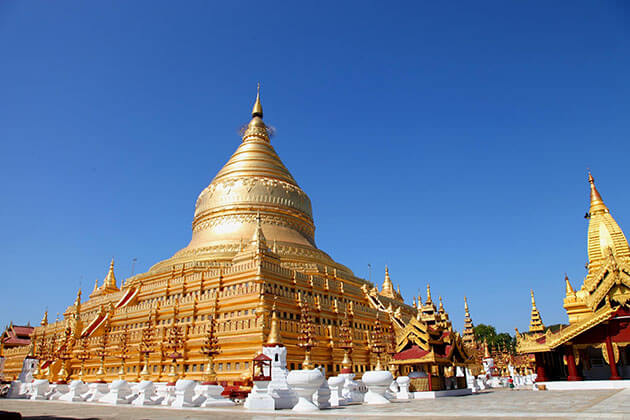 Shwezigon Pagoda - one of the best places to visit in myanmar river cruise
