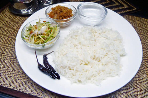 Thingyan hta-min - special dish for Myanmar water festival