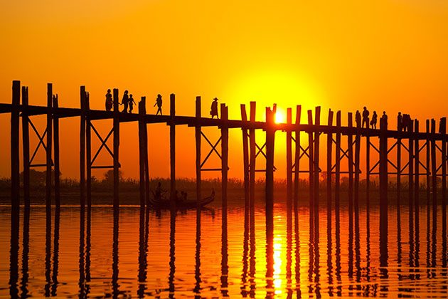 U Bein Bridge - a stunning photo stop for irrawaddy river cruise
