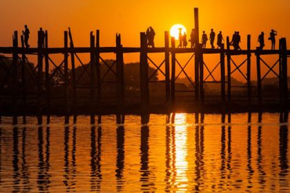 U Bein Bridge - highlight of Myanmar cruise tour