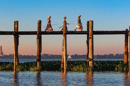 U Bein Bridge - beautiful attraction for myanmar luxury cruise trips