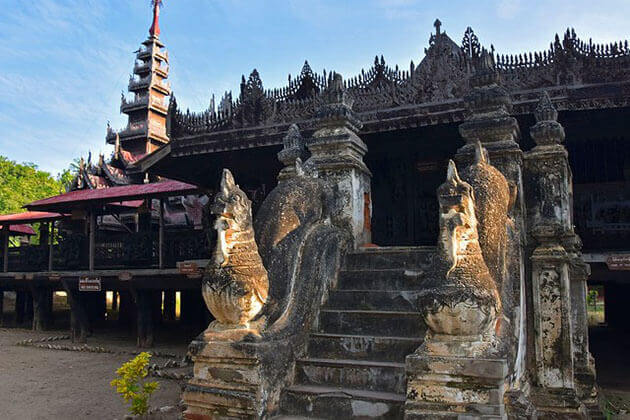 Yoke Soun Kyaung Monastery is one of the main attractions in Salay
