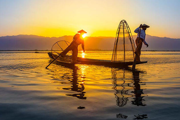 inle lake - ideal place for post cruise in myanmar
