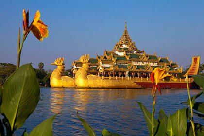 karaweik Palace - attraction for myanmar irrawaddy river cruises