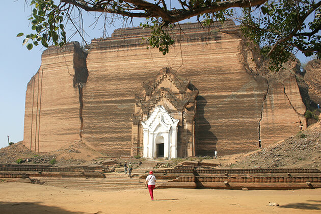 mingun pagoda - attraction for irrawaddy river cruise