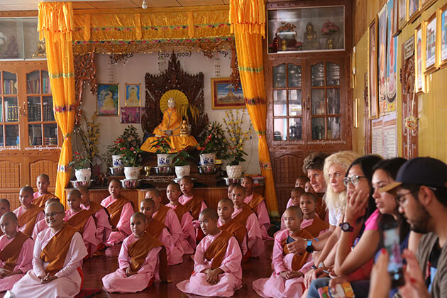 nunnery school in inle lake - attraction for myanmar luxury cruises