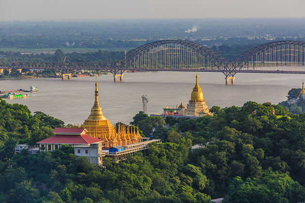 sagaing hill - beautiful attraction for irrawaddy river cruises