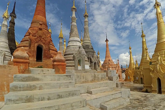 shwe indein pagoda - attraction for myanmar luxury tours