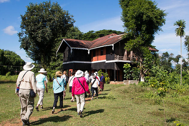 tourists visiting Katha George Orwell House